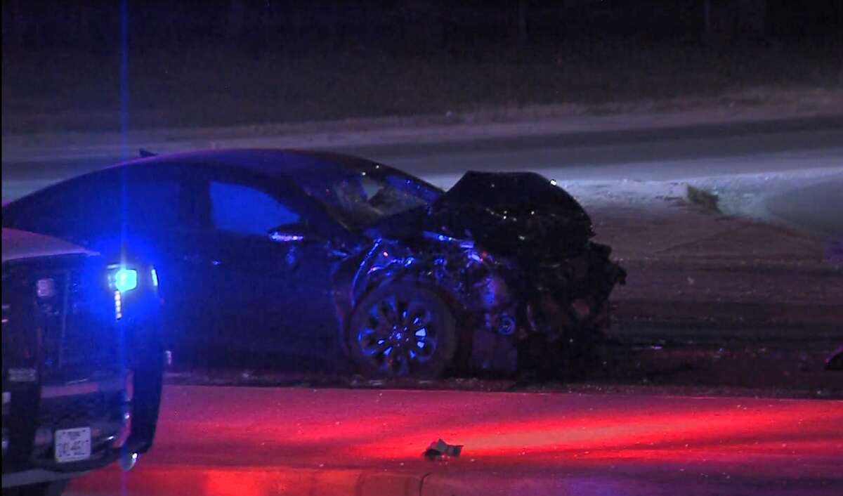 Early Sunday, a suspected drunken driver ran a red light and crashed into a vehicle, killing three passengers and seriously injuring a fourth passenger, said police.