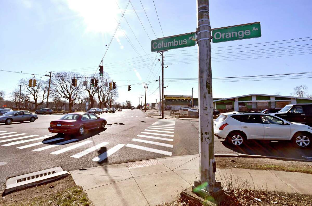 The intersection of Ella T. Grasso Boulevard (state Route 10) with Route 1 has been the site of several pedestrian deaths. This memorial was put up in 2019.
