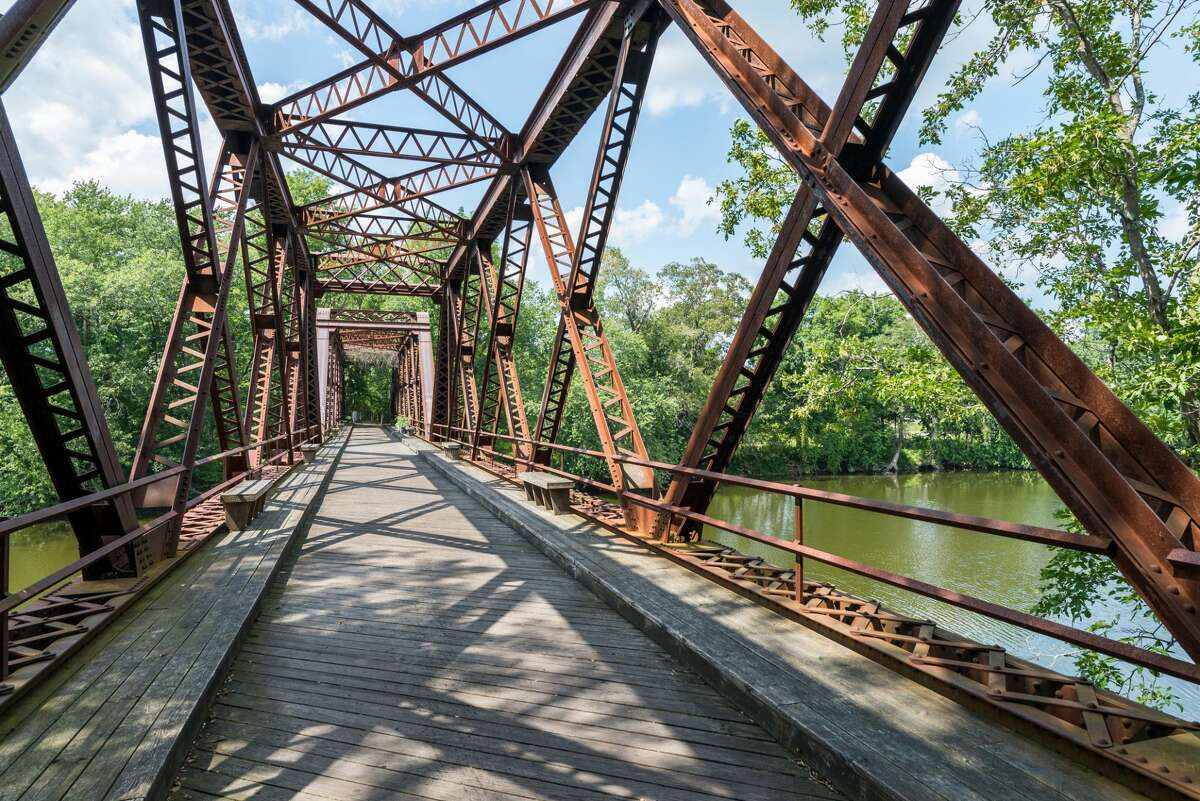 """The most recognizable feature of the Wallkill Valley Rail Trail is the Springtown Bridge, which appeared in the film, """"A Quiet Place."""" A new bicycling and pedestrian path are part of the improvements along this heavily used 3.5-mile segment of the rail trail, also part of the Empire State Trail."""