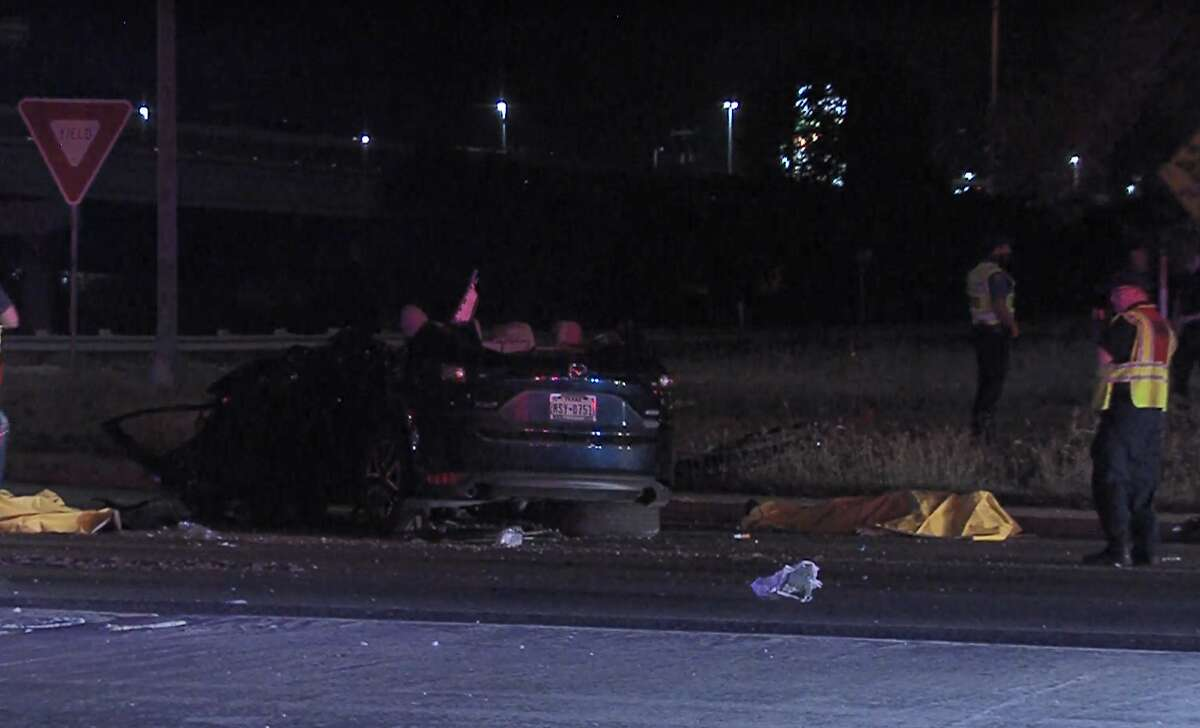 Three people were killed and a fourth was seriously injured early Sunday.