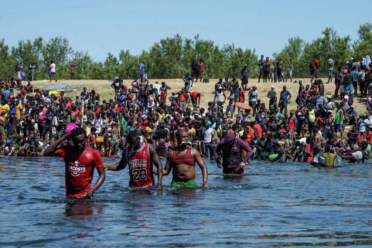 Thousands of Haitian migrants began efforts to cross the Rio Grande into Del Rio, Texas, from Ciudad Acuna earlier this month.