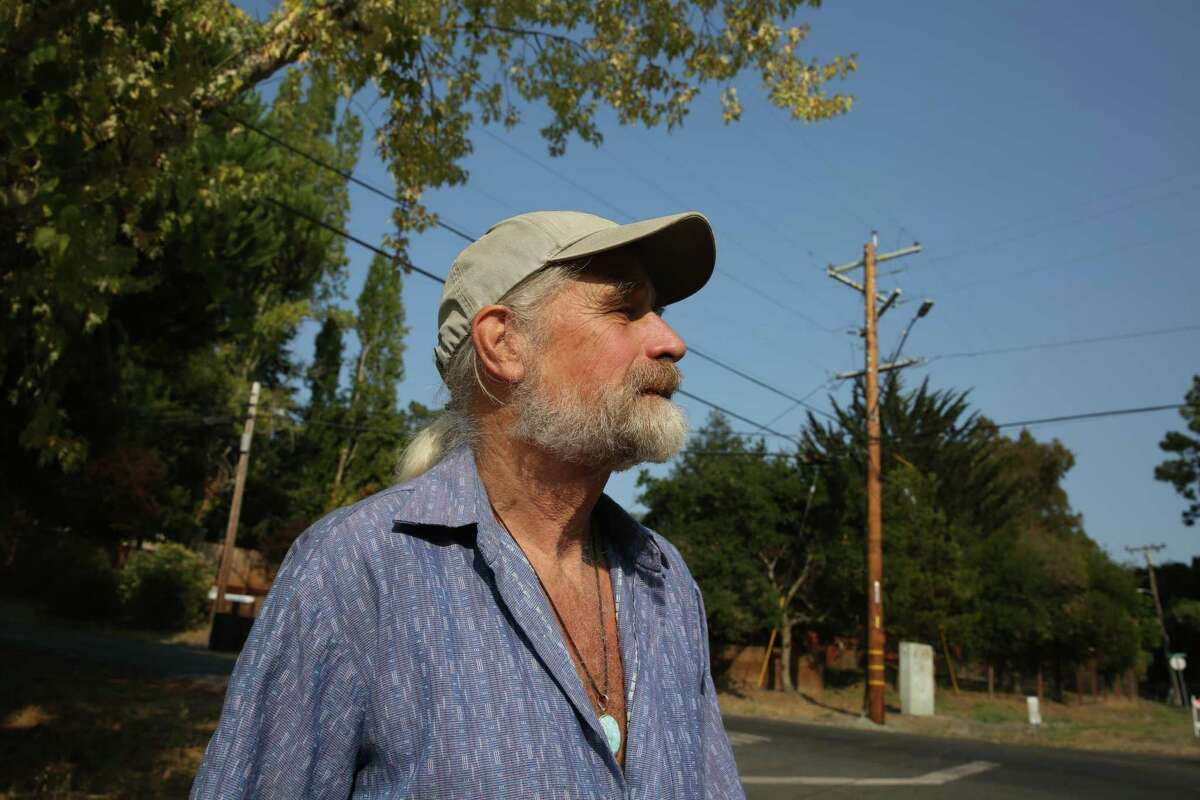 Longtime La Honda resident Anthony Webb spoke up at a California Public Utilities meeting about the effects of PG&E's new experimental automated program to cut power at the slightest detection of an problem to prevent wildfires.