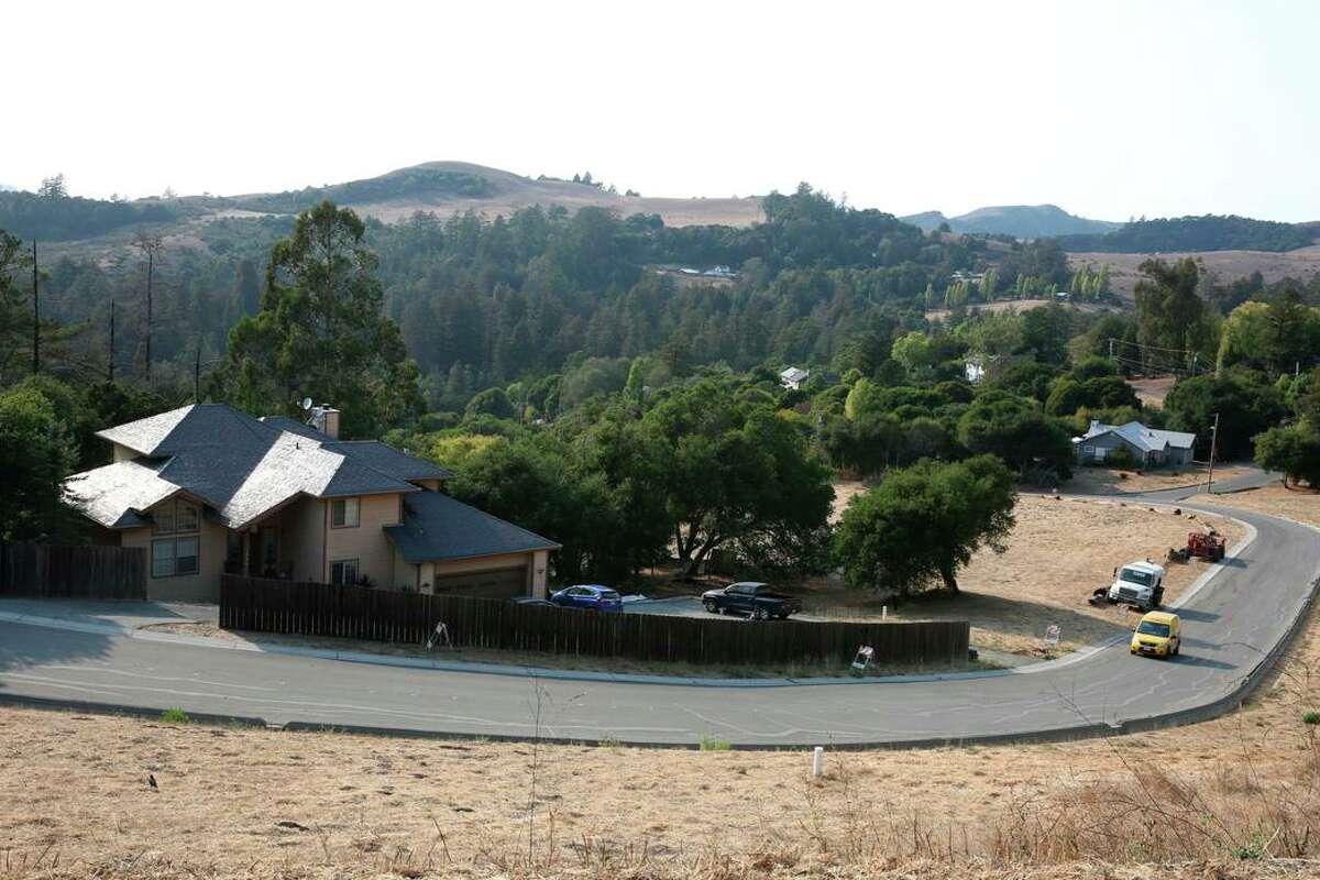 Homes in the Cuesta La Honda Guild development.