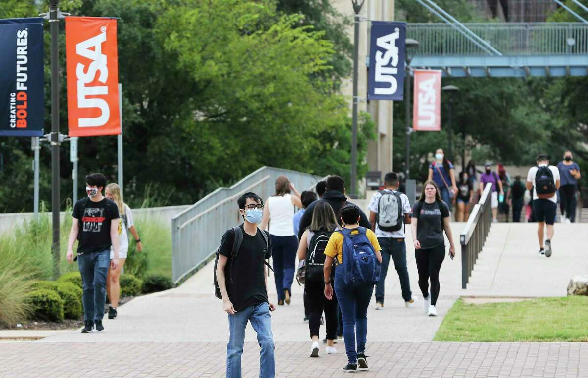 UTSA students return to campus on Sept. 13 after several weeks of remote learning. Both UTSA and the Alamo Colleges delayed the return of in-person classes as the coronavirus delta variant caused a spike in community cases near the fall semester's start.