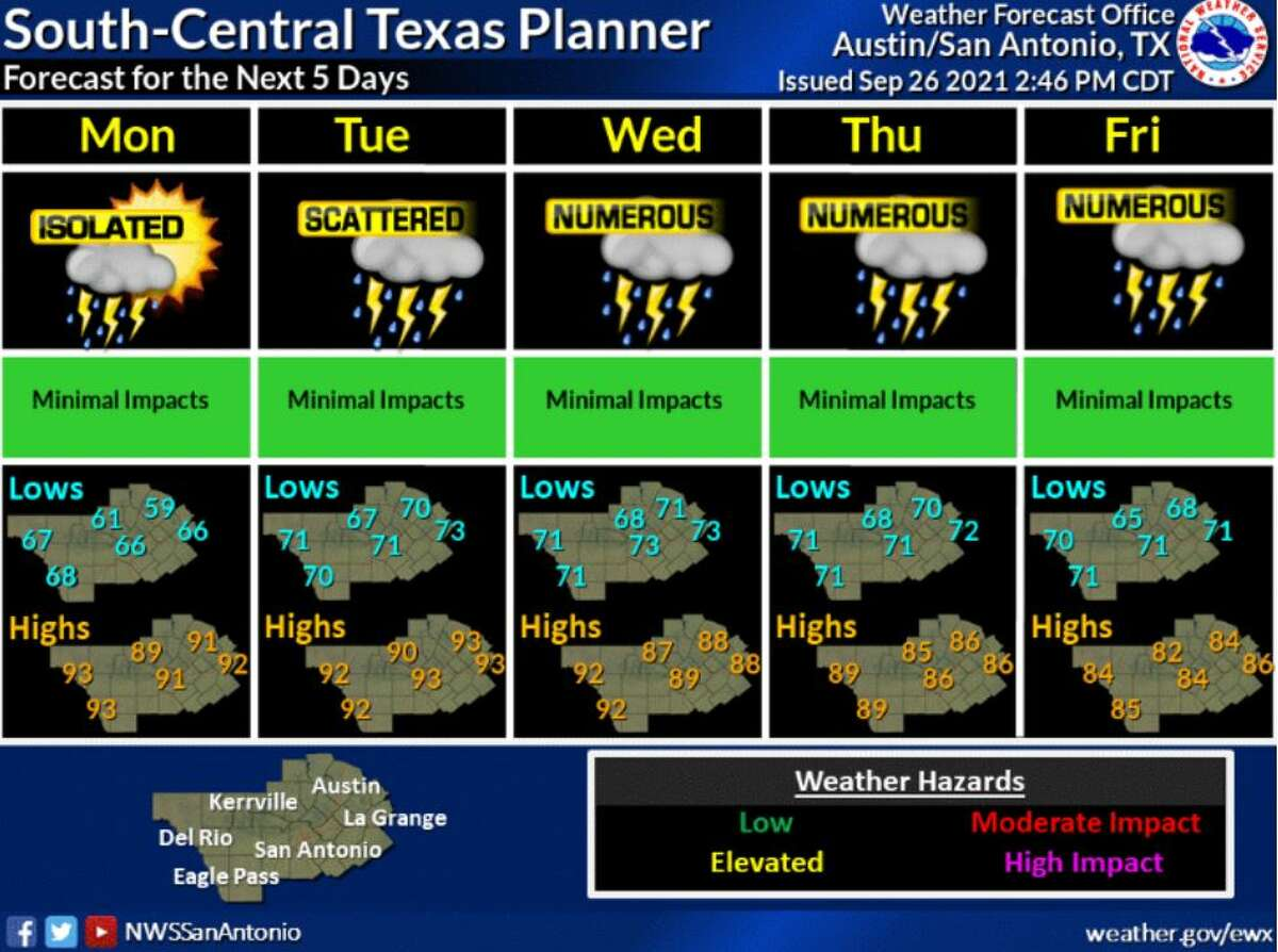 Locals will need to adjust their weekly plans to take forecasted storms into account,