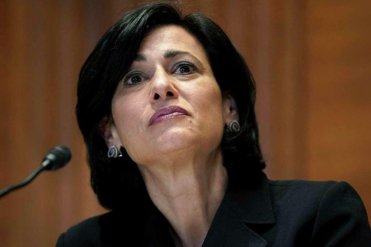 La directora de los Centros para el Control y la Prevención de Enfermedades de EEUU, la doctora Rochelle Walensky, en una audiencia con senadores el 19 de marzo de 2021 en Washington.