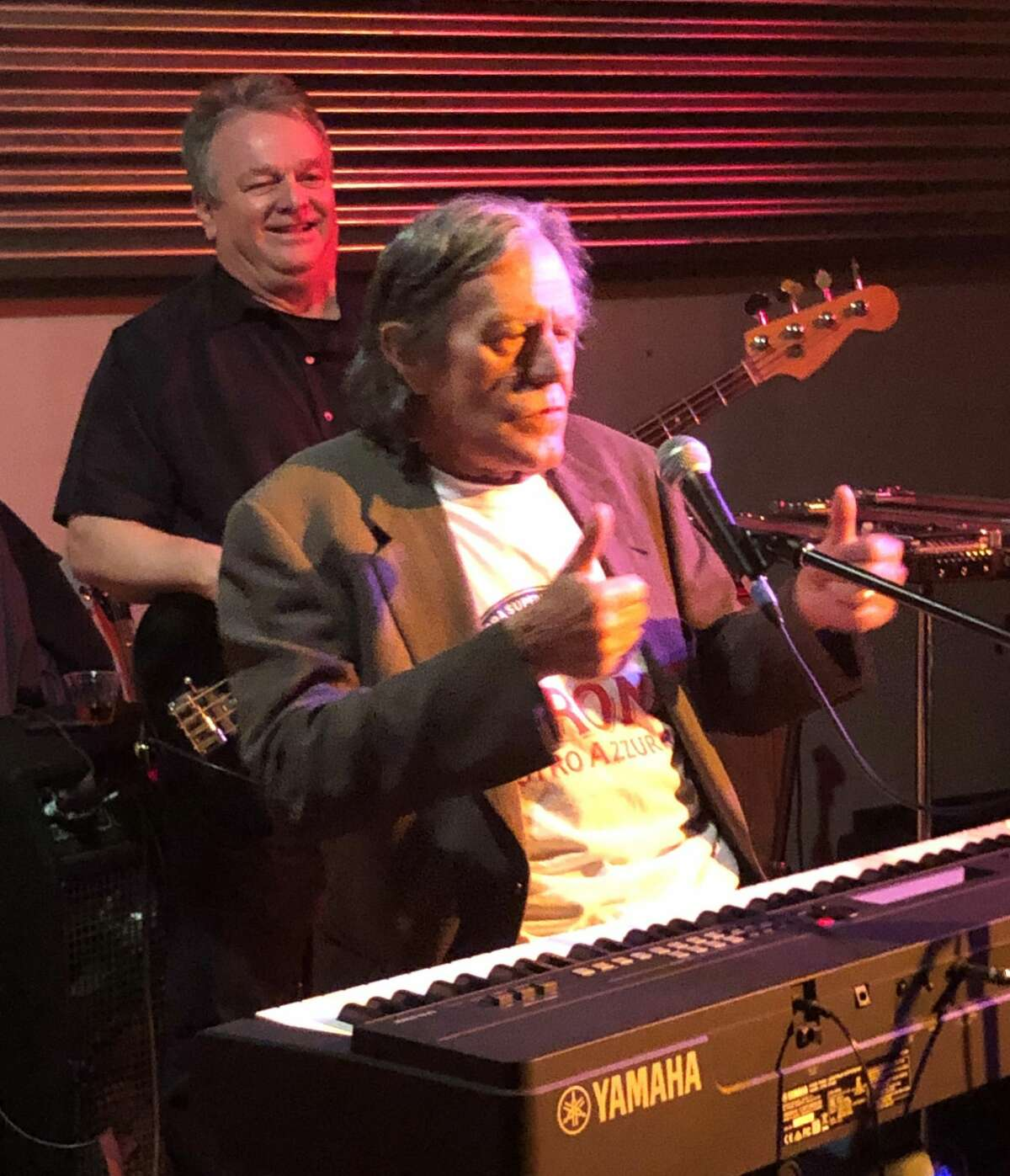 At the piano is George Frayne IV, aka Commander Cody, during a 2019 concert at The Hangar on the Hudson in Troy by Commander Cody and His Lost Planet Airmen. Frayne, who lived in Saratoga Springs, died Sunday, Sept. 26, 2021, at age 77.