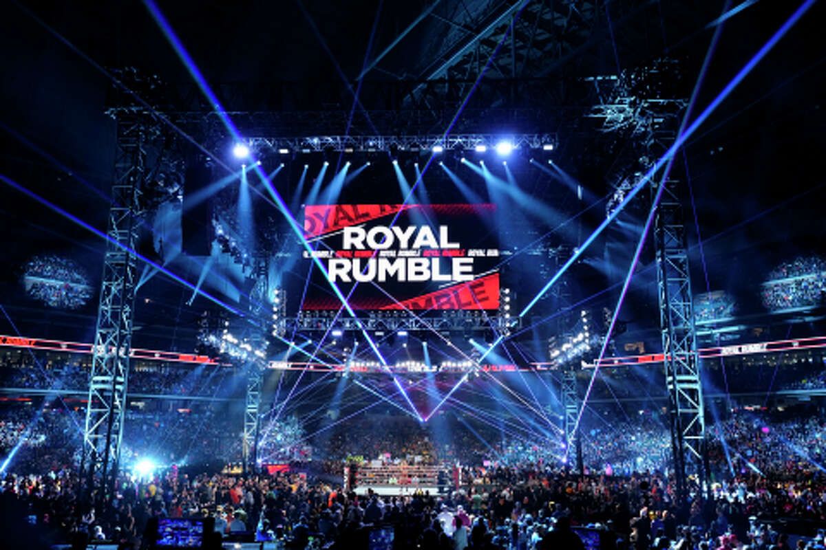 FILE - A photo of a previous Royal Rumble event.