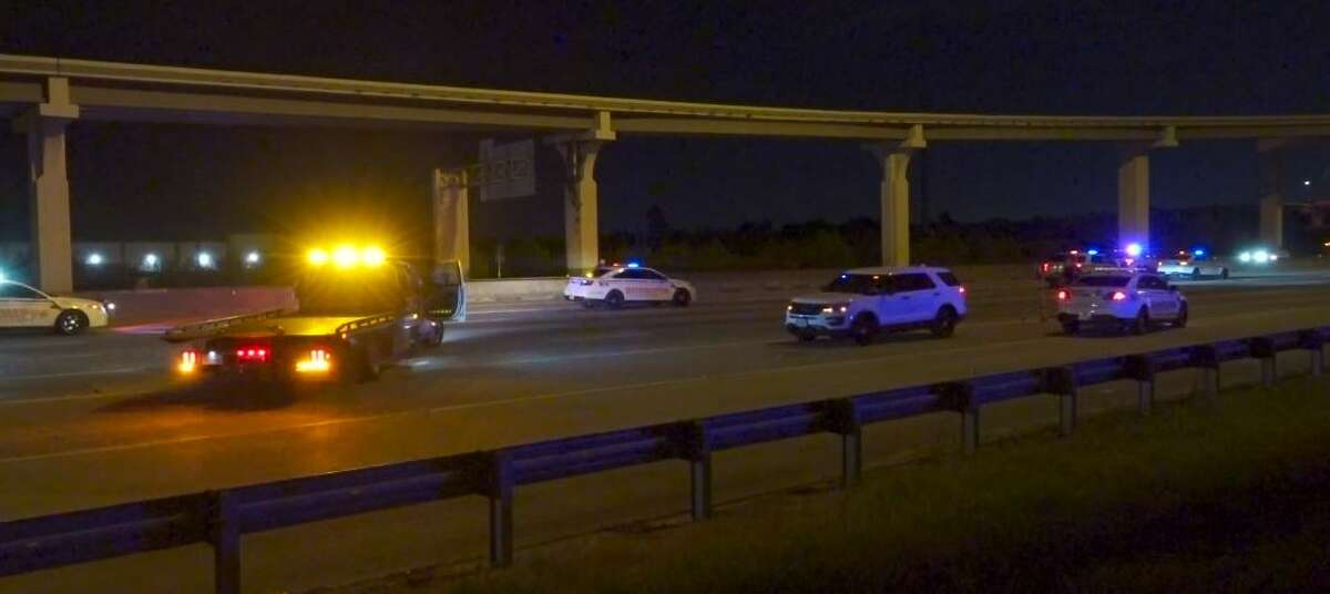 Two vehicles hit another woman early Monday morning at 22848 North Freeway in Spring.