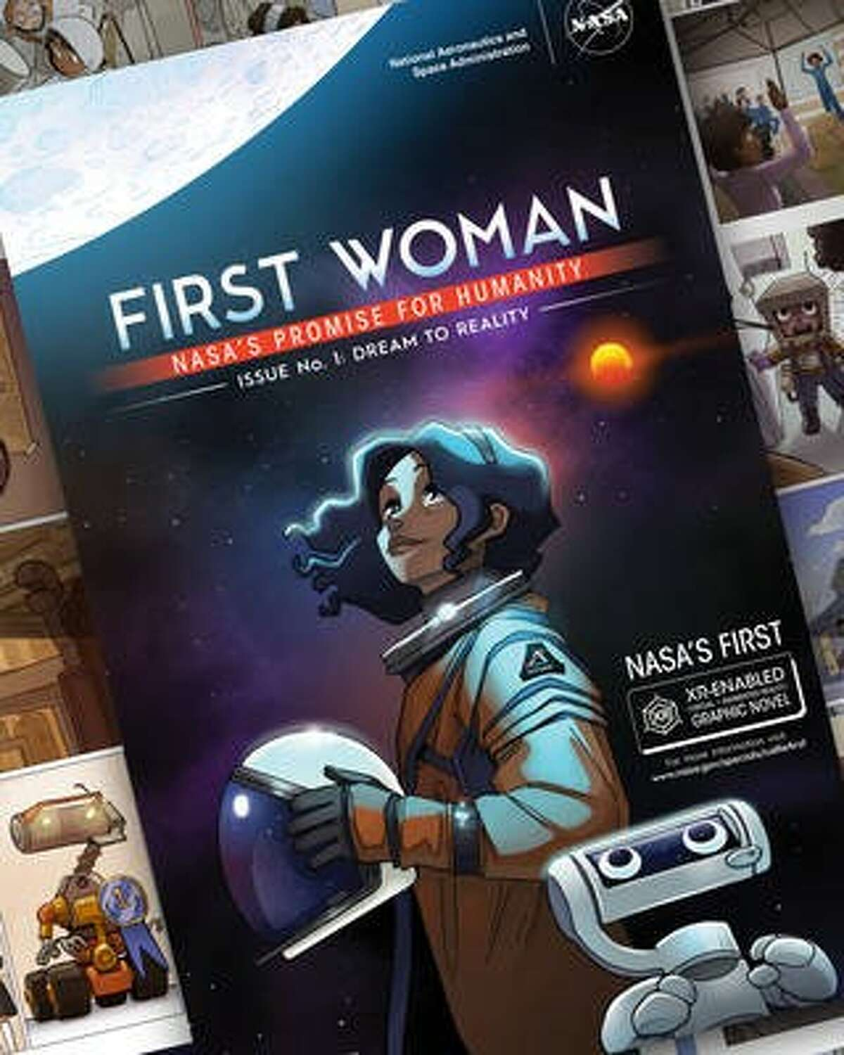 """NASA has created a graphic novel around fictional character Callie Rodriguez.Issue 1, """"Dream to Reality,"""" imagines Callie's trailblazing path as the first woman on the Moon."""