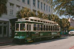 Tickets for the Galveston rail trolley are free the weekend of Oct. 1. After, the fare is $1.