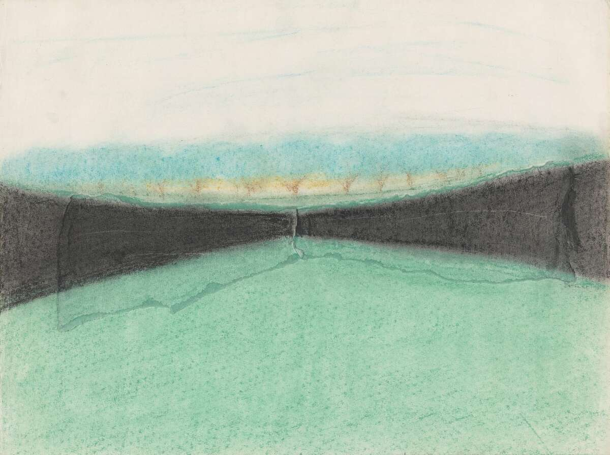 ] Maya Lin (b.a. 1981, m.arch. 1986), Study for the Vietnam Veterans Memorial, 1980. Pastel on paper.Yale University Art Gallery, Promised gift of Maya Lin, b.a. 1981, m.arch. 1986, in honor of JockReynolds, the Henry J. Heinz II Director, 1998-2018, and Vincent J. Scully, Jr., b.a. 1940, m.a. 1947,ph.d. 1949. ©Maya Lin Studio