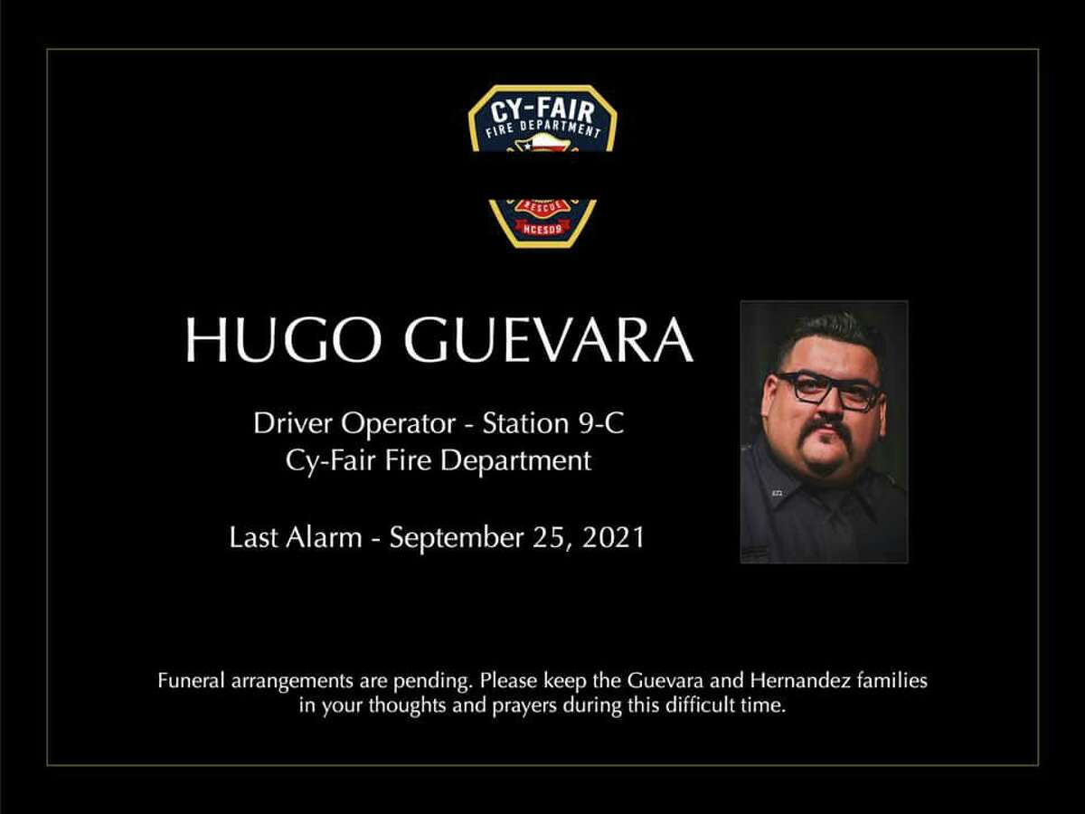 Cy-Fair Fire Department driver operator Hugo Guevara died Sept. 25 after contracting COVID-19.