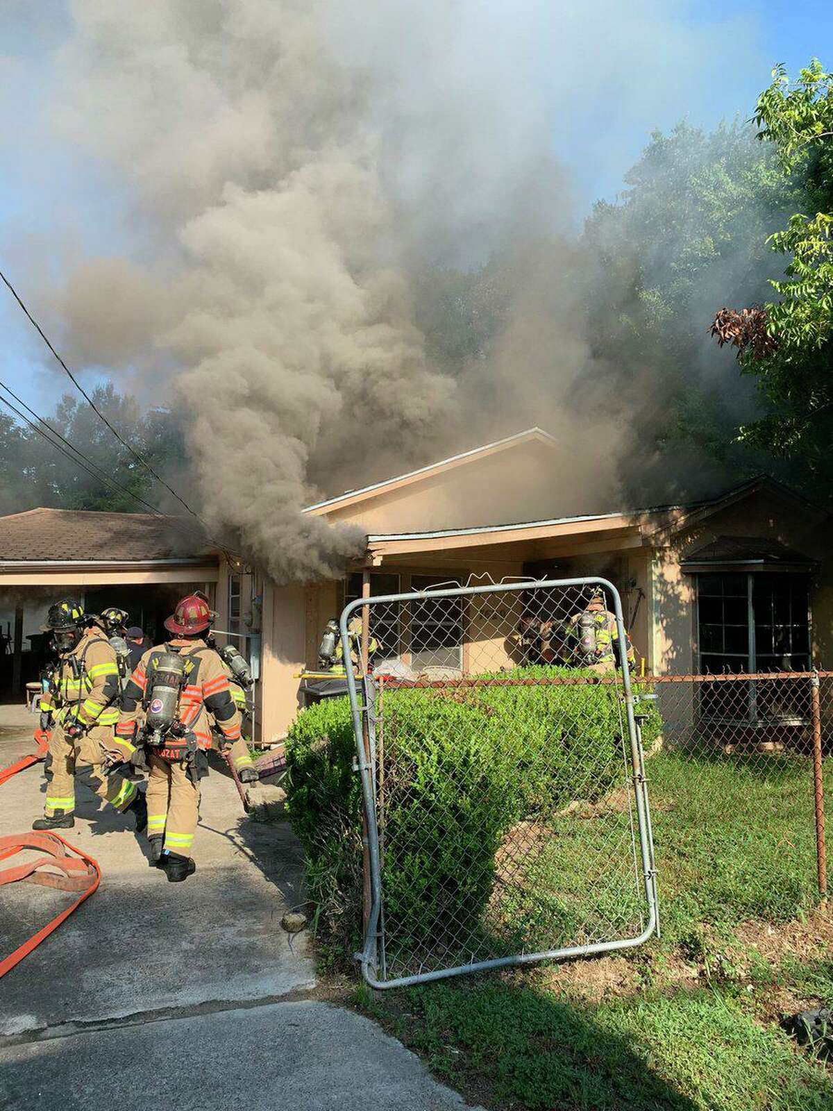 Authorities discovered a dead man in the aftermath of a fire at 7629 Pointer Street on Aug. 16, 2021.