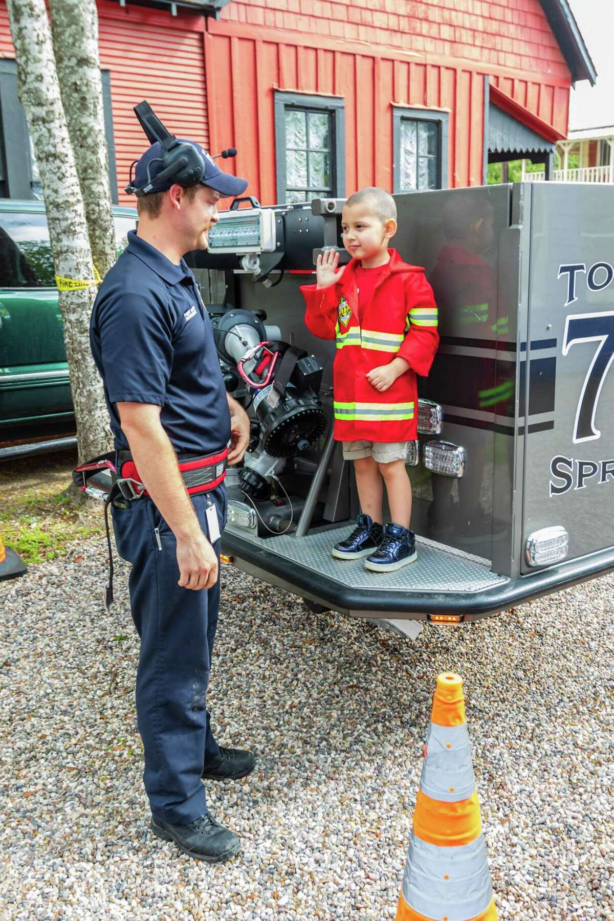 Children enjoy the 2019 Spring Into Safety event hosted by the Spring Fire Department.