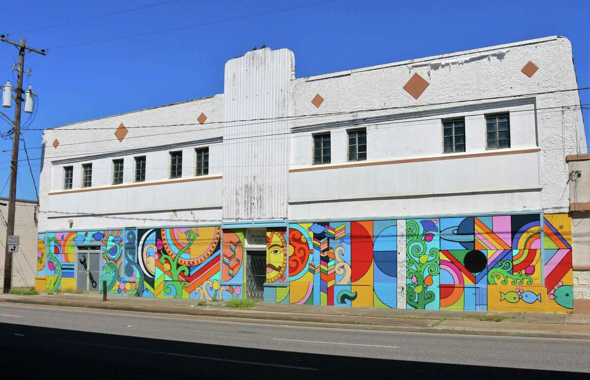Amol Saraf's mural on the former Fleming Building is part of upgrades to the Shaw Avenue area.