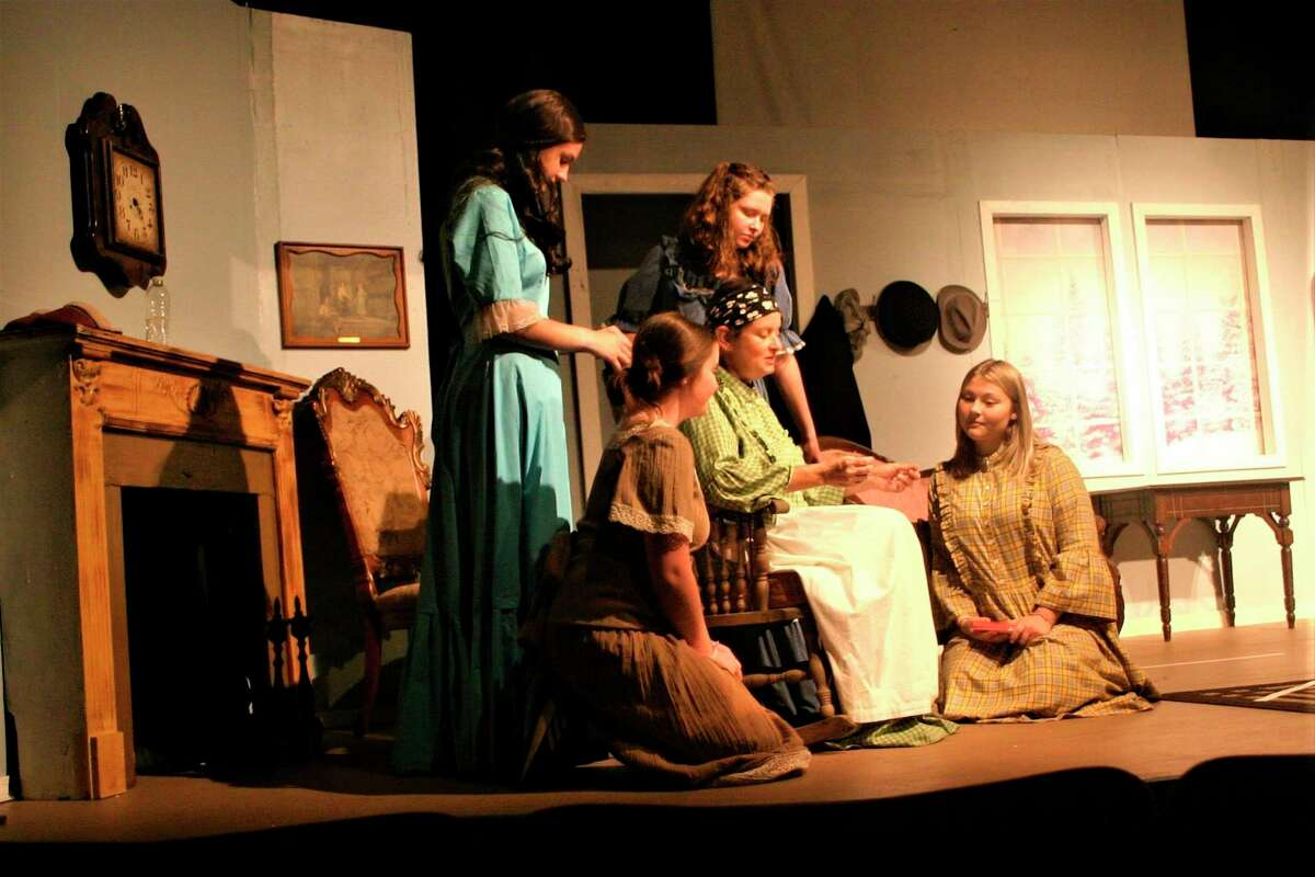 Little Women, performed by the CrossRoads Theatre Guild, will open this weekend in the newly renovated CrossRoads Theatre at 249 W. Upton Ave., Reed City. (Herald Review photo/Cathie Crew)