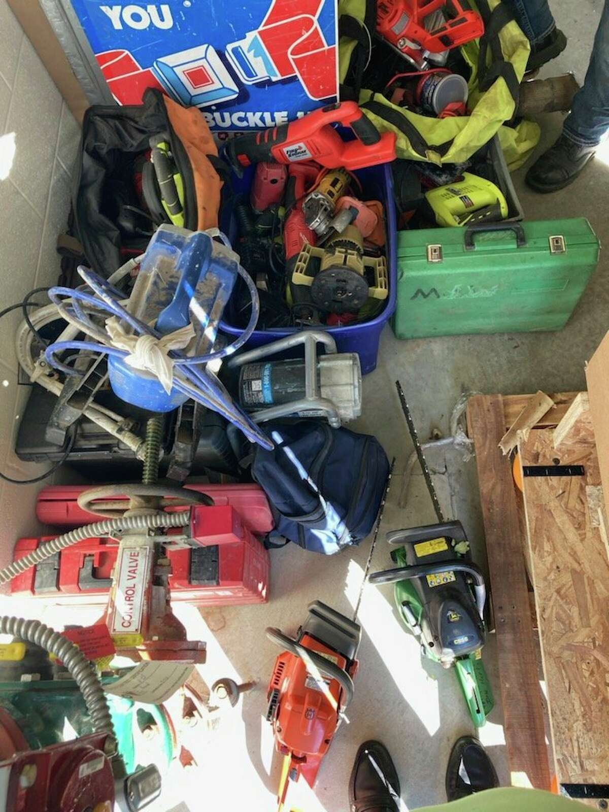 Some of the items the Huron County Sheriff's Office said was stolen property from a Lincoln Township residence. (Huron County Sheriff's Office/Courtesy Photo)
