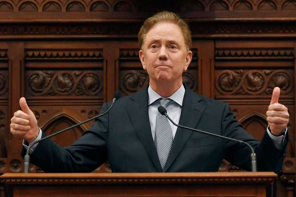 Gov. Ned Lamont, in the state House chamber, in a 2020 file photo.