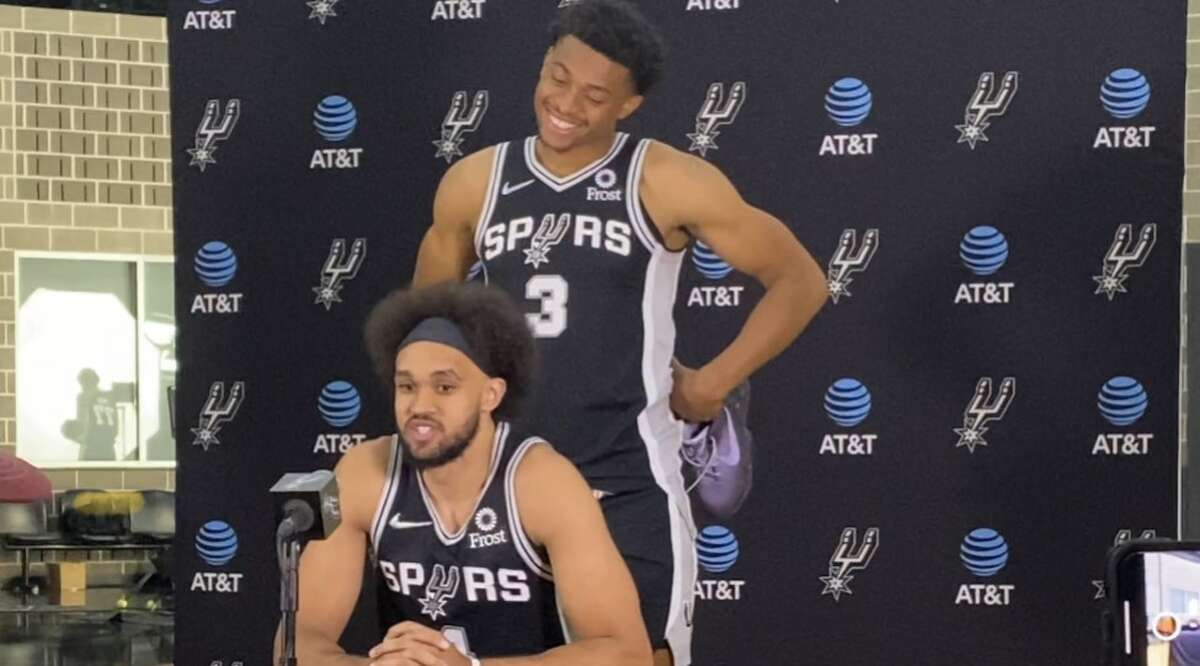 Spurs hosted media day at their practice facility on September 27, 2021.