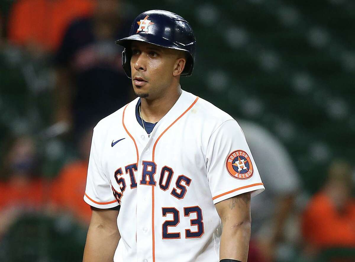 With a .315 average, Astros left fielder Michael Brantley is in the hunt for an American League batting title. But he needs nine more plate appearances to qualify and hasn't played since Sept. 11.