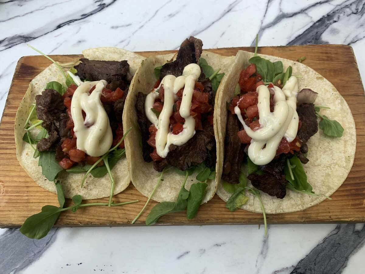 Steak tacos from Te Amo Tequila Bar in New Haven.