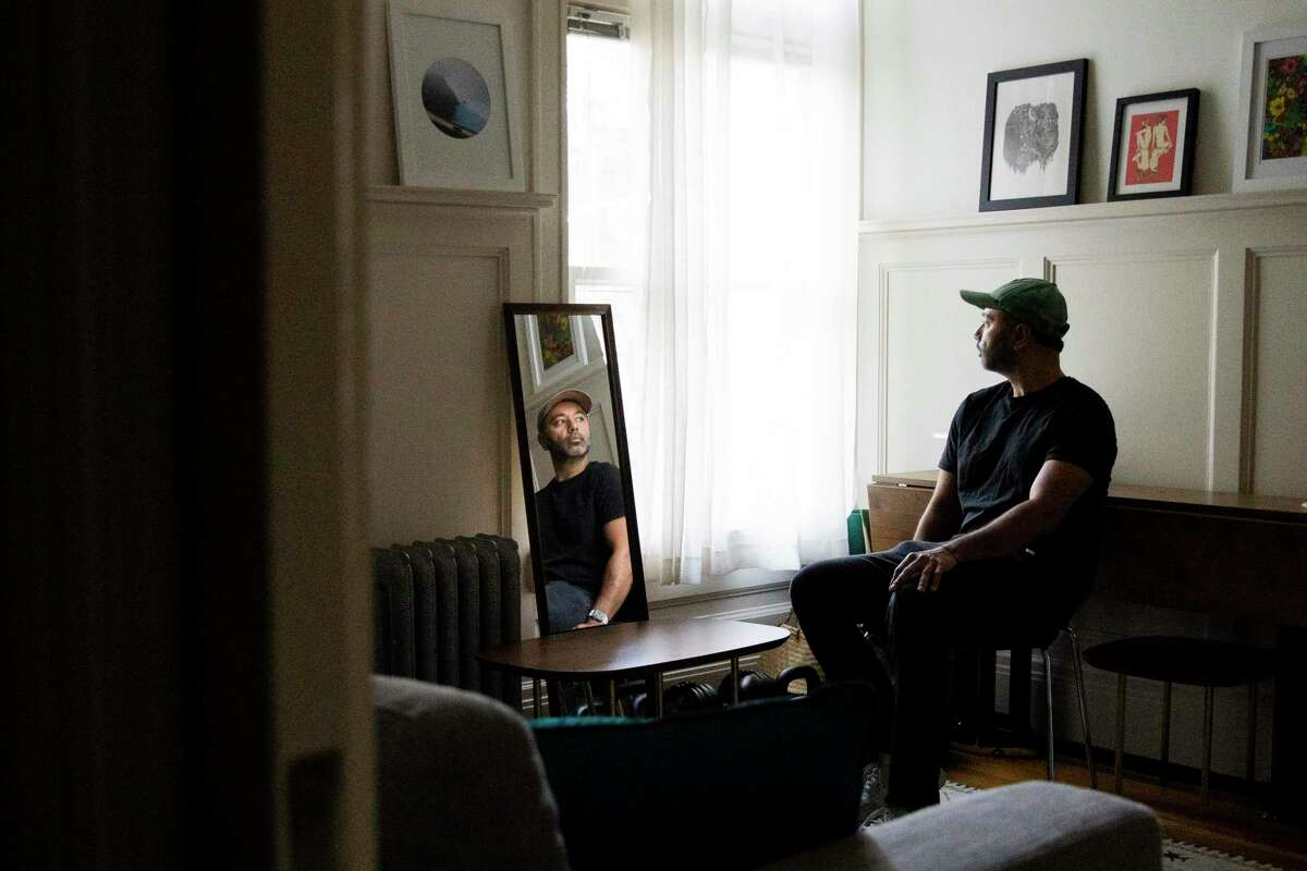 A portrait of Sumier Phalake at his home on Sept. 21 in San Francisco. Phalake left India at age 21 to attend Georgia Tech. Eighteen years later he is stuck in green card limbo.