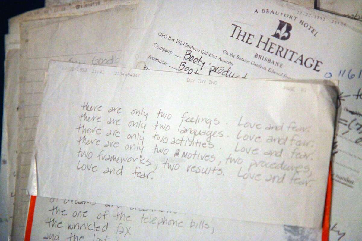 NEW YORK - JULY 27: One of 21 faxed letters from Madonna to then boyfriend James Albright from 1992-1994 are displayed at the Gotta Have It! Rock & Roll Pop Art Auction Press Preview at Rock & Roll Hall of Fame Annex NYC July 27, 2009 in New York City. (Photo by Astrid Stawiarz/Getty Images)