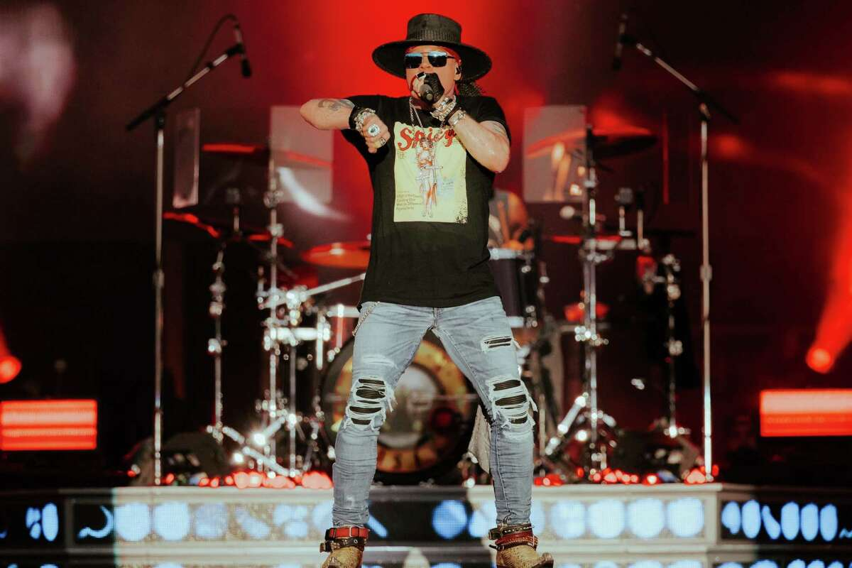 Axl Roseat BottleRock Napa Valley on Sept. 4. BottleRock organizers required attendees to either be vaccinated or show negative test results.