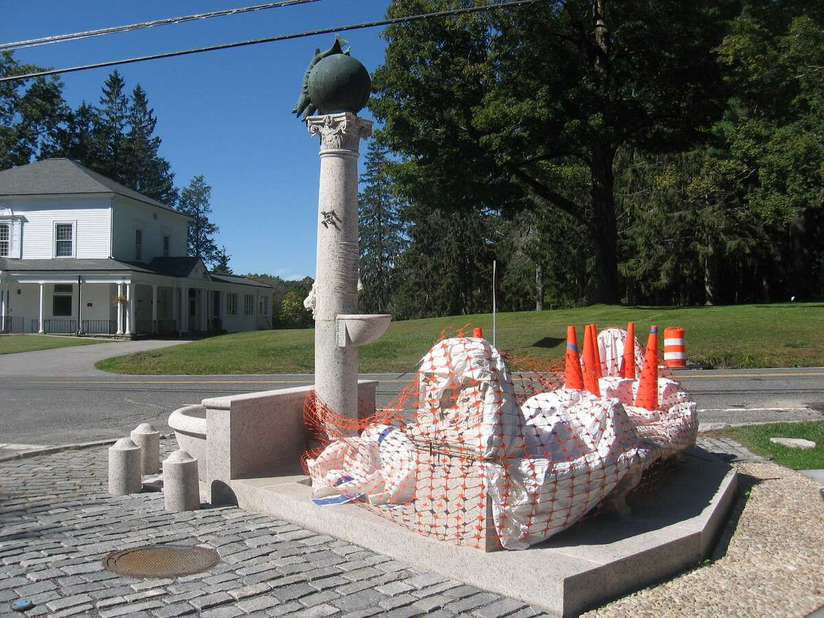The Joseph Battell Fountain, designed by Stanford White in 1889 and located at the southern tip of the village Green at Litchfield Road and Village Green in Norfolk, is one of the town's most prized possessions. It is now being restored and is expected to be completed in October.