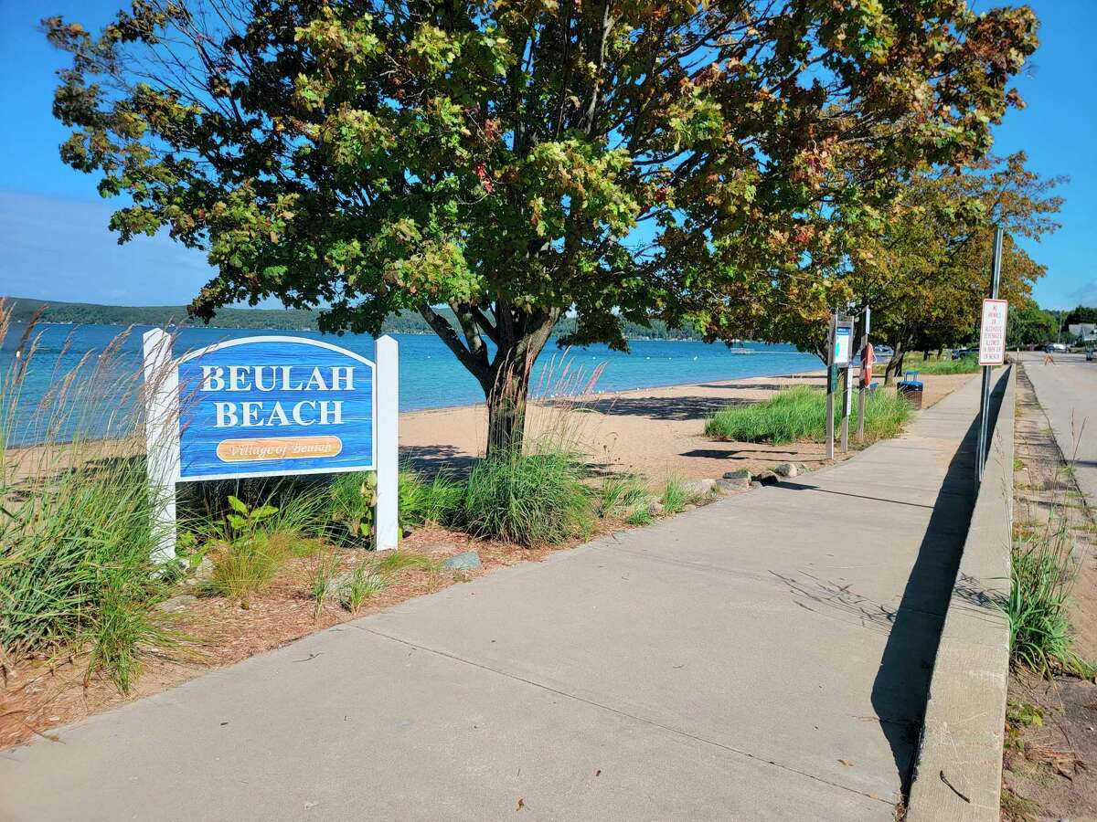 Beulah Beach features a stretch of public beach on Crystal Lake, bathroom facilities and a playground. (Colin Merry/Record Patriot)