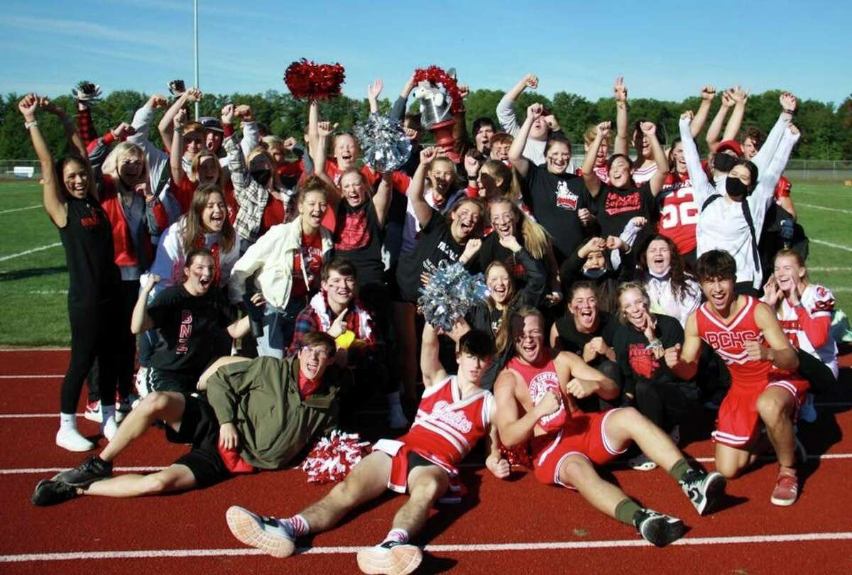 Seniors won the cup during spirit week, proving they had the most school spirit during games held throughout the week and Friday afternoon. (Courtesy Photo)