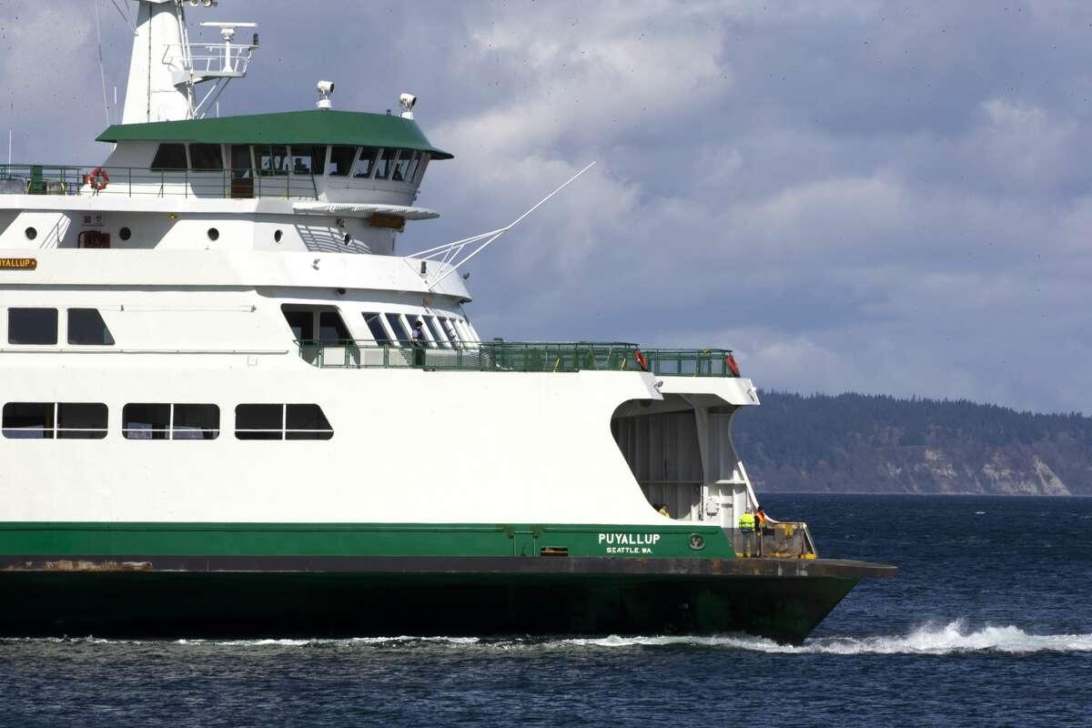 A Washington State ferry.