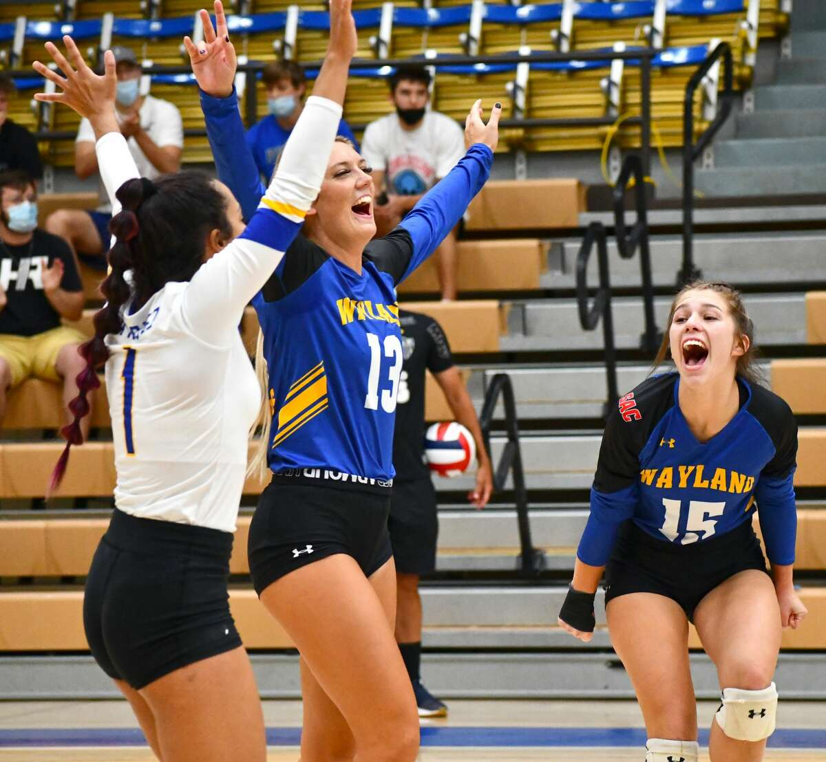 Veterans such as Ariel Marquez (1), Amber Daniel and Tevia Bell have helped the Pioneers to a 14-4 record and 7-1 start to SAC play.