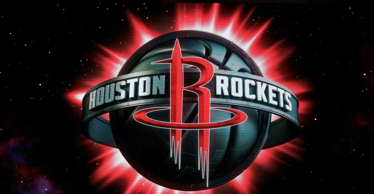 A new Houston Rockets logo design is unveiled at the Toyota Center on Thursday, June 20, 2019, in Houston.