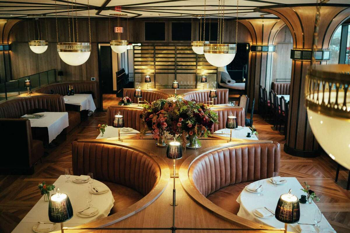 The dining room at San Francisco steak house Miller & Lux was envisioned by renowned designer Ken Fulk.