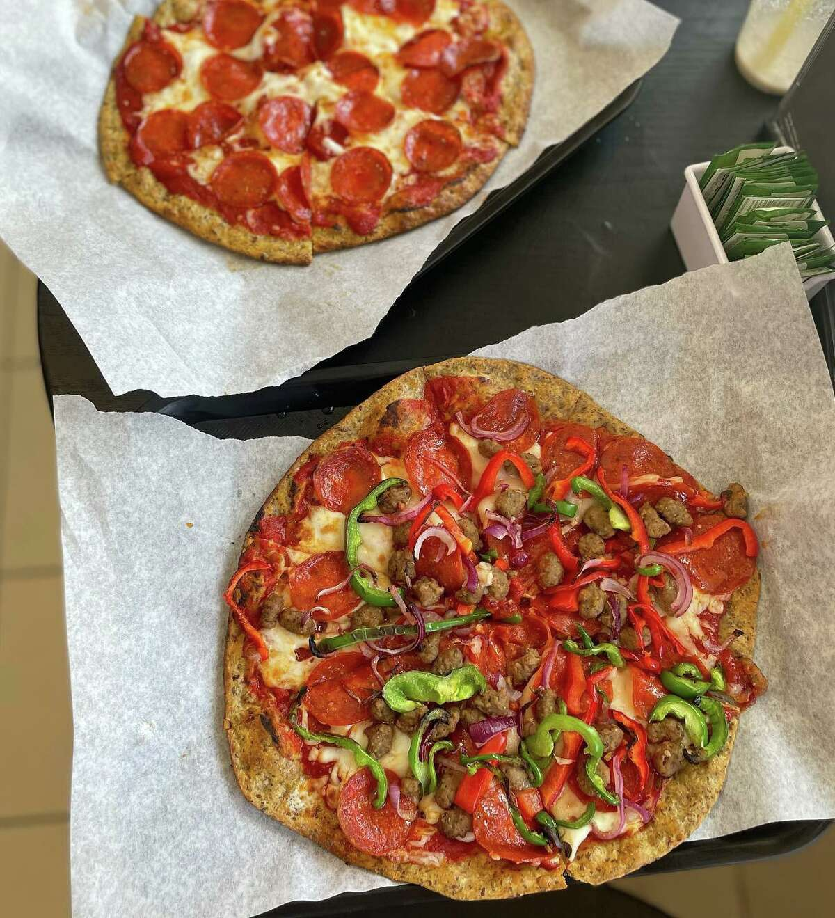 Low-carb pizzas from Shake and Bake bakery