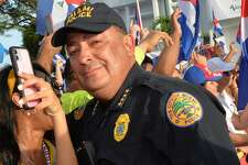 MIAMI, FL - JULY 14: Miami Police Chief Art Acevedo attends SOSCuba rally in support of the demonstration for Freedom in Cuba at Versailles restaurant in Little Havana on July, 14, 2021 in Miami, FL (Photo by Manny Hernandez/Getty Images)