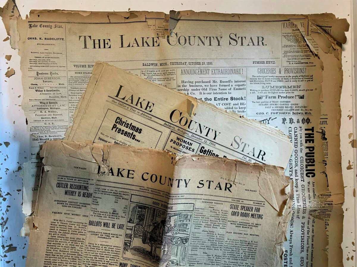 Pictured are early editions of the Lake County Star. (Courtesy photo)