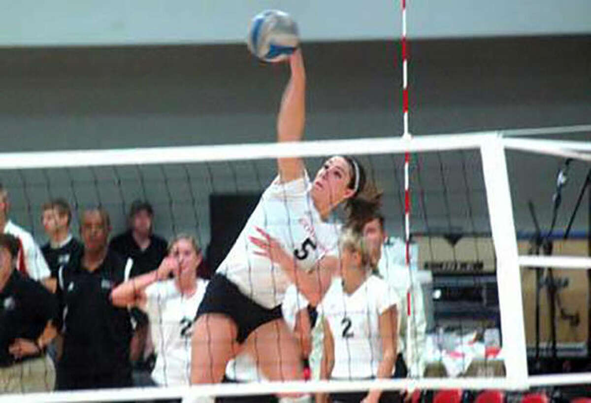 Metro-East Lutheran graduate Brooke Smith during her playing days with the SIUE volleyball team.