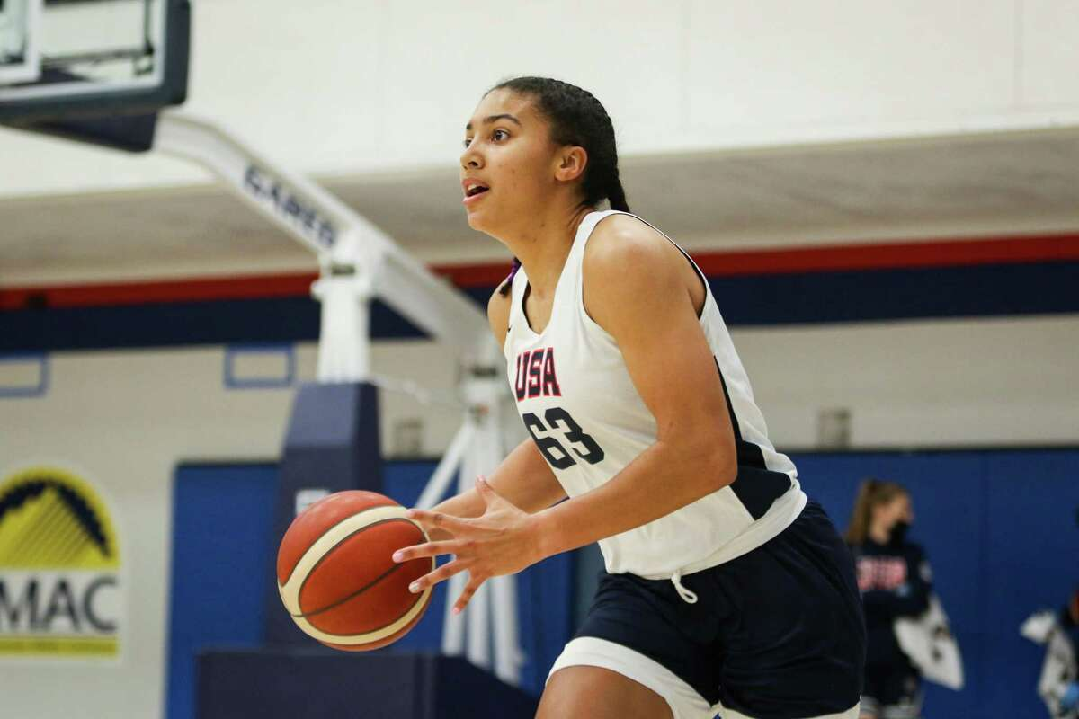 Incoming UConn women's basketball freshman Azzi Fudd participated in the USA Basketball U19 World Cup trials in Denver from May 14-16, 2021.