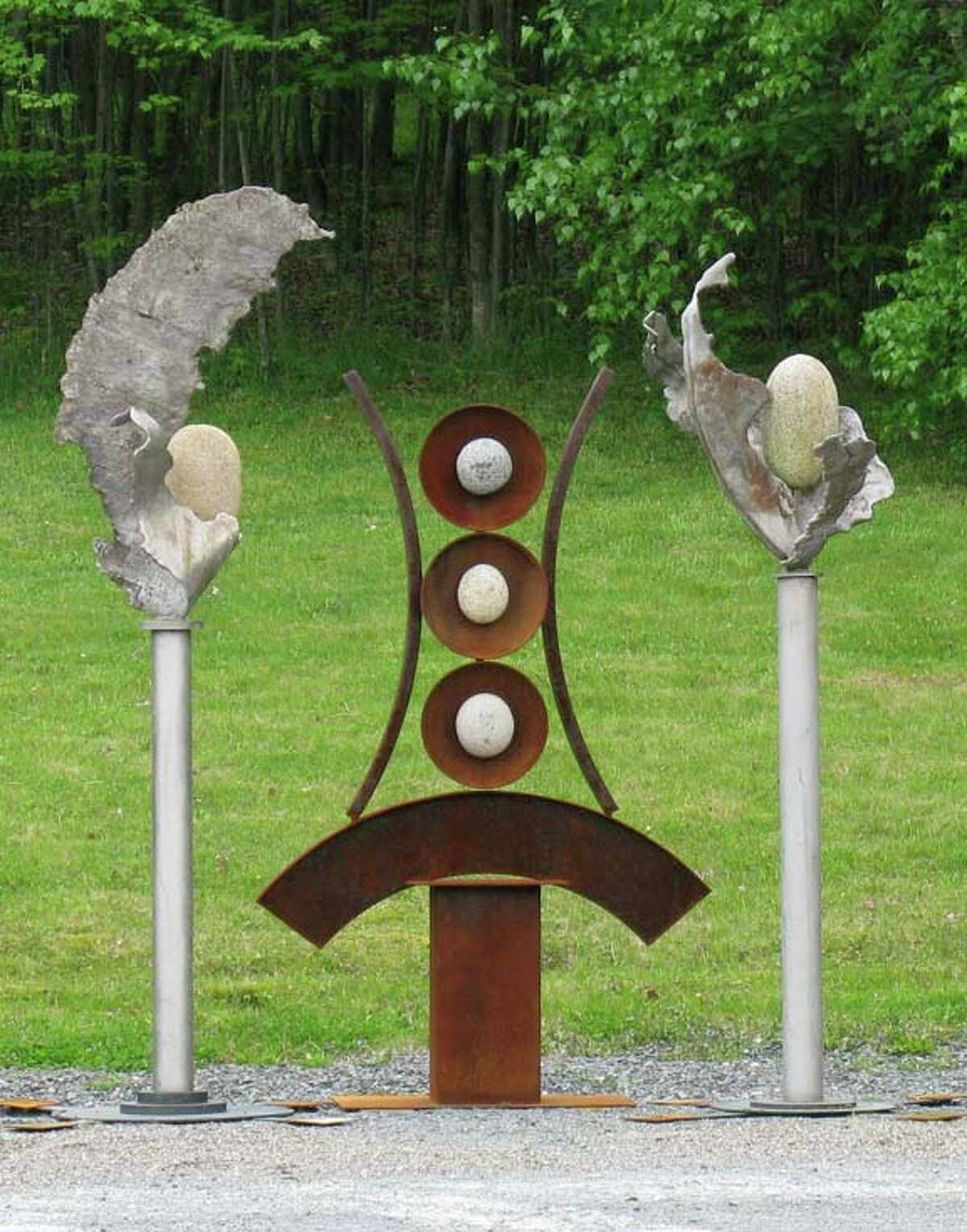 Artifacts Stainless and soft steel, granite