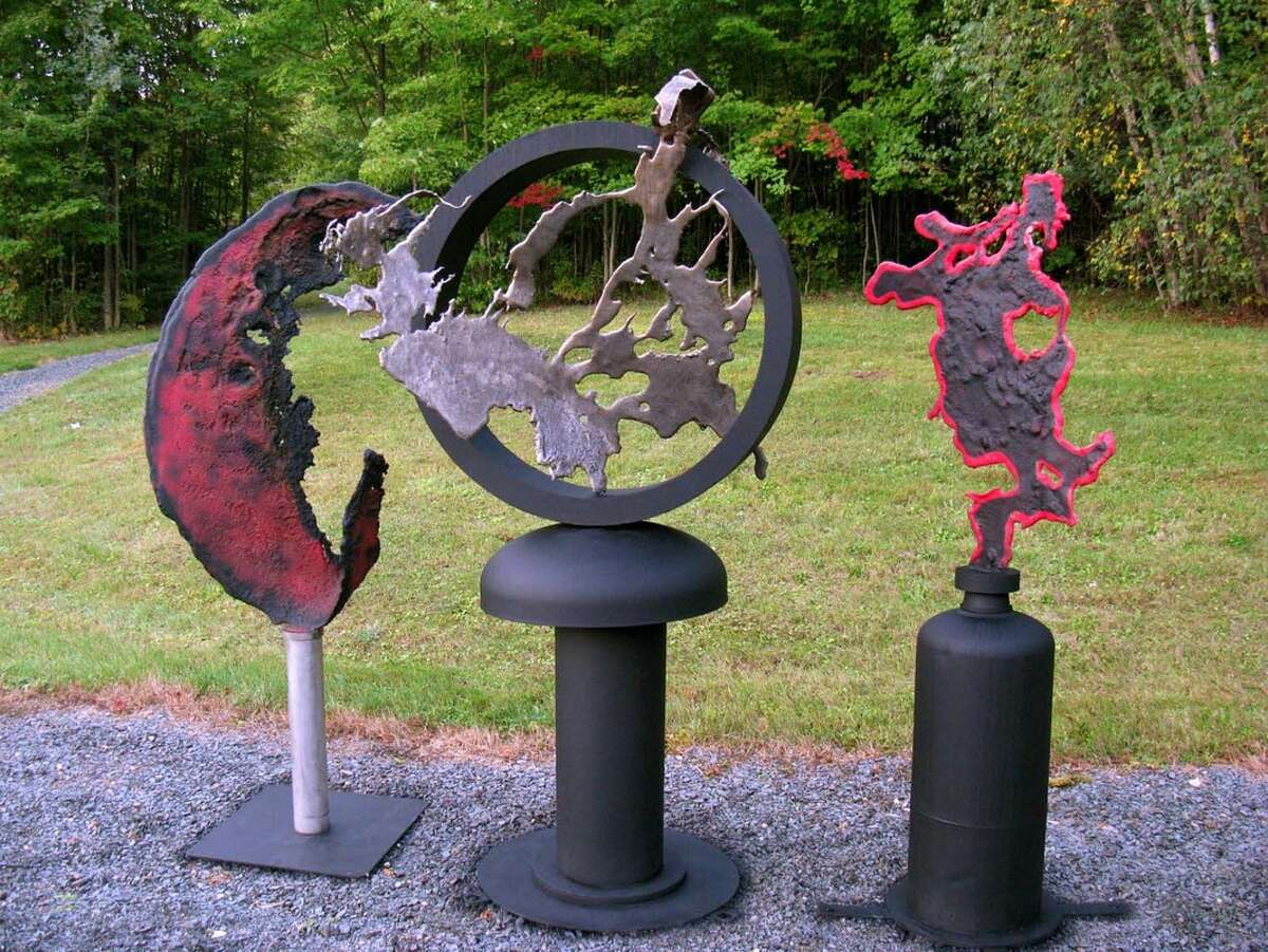 Artifacts II Stainless steel and mild steel by Mary Pat Wager