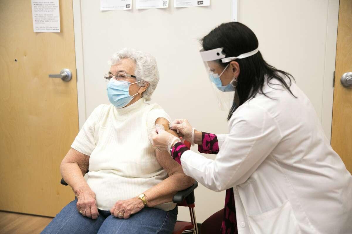 CVS Pharmacy Begins Administering COVID-19 Vaccines on Thursday, Jan. 28, 2021, in Fall River, Mass. (Scott Eisen/CVS Health via AP Images)