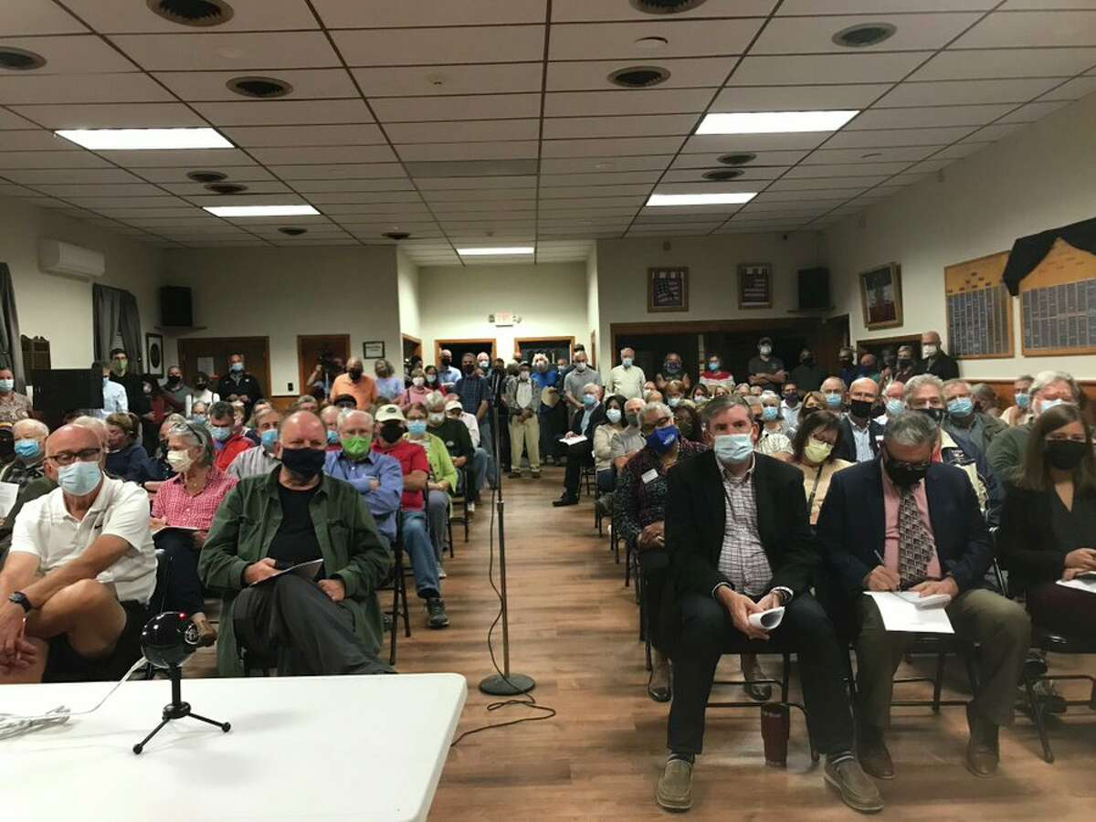A community meeting was held Sept. 27, 2021 for residents in Poestenkill to learn about PFOA found in local wells.