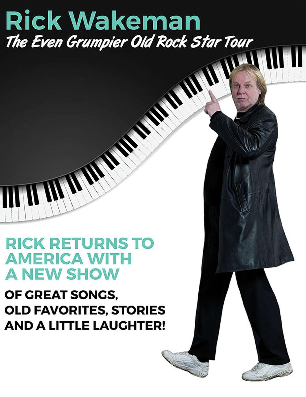 Rick Wakeman will perform at the Ridgefield Playhouse on Sat. Oct 30, 2021.