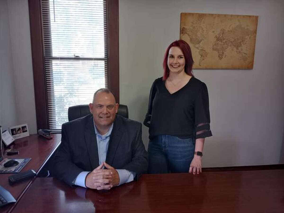 Brian Hamann with his business partner, Deanna Evans, have opened a Prudential Advisors office at 205 W. Main St. in East Alton.