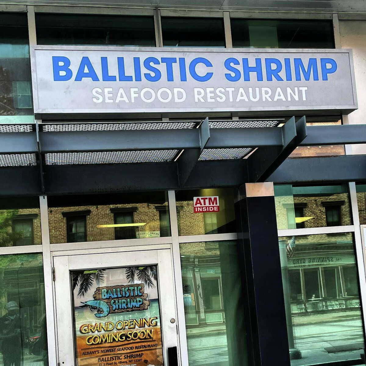 Ballistic Shrimp opened in one of the storefronts along South Pearl Street at the Times Union Center in Albany. It takes over a location previously occupied by Dallas Hot Wieners, which closed during the pandemic.