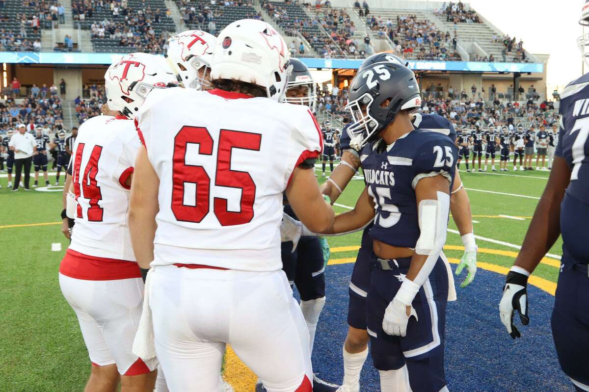 Tomball High defeated Tomball Memorial 48-35 in the District 15-6A opener and 40th Annual Patriotic Show on Friday night, Sept. 24, at Tomball ISD Stadium.