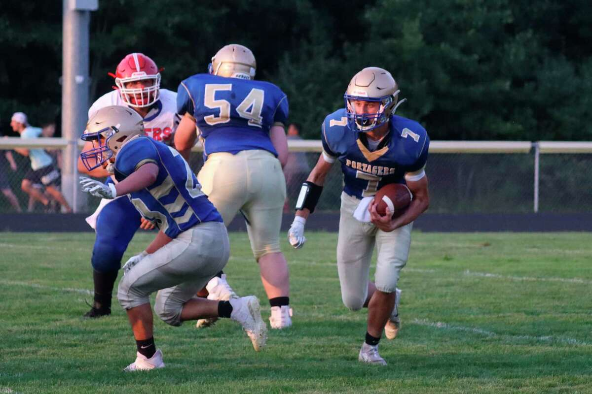 Onekama falls to Manistee Catholic Central during week one of the regular season. (Robert Myers/News Advocate)